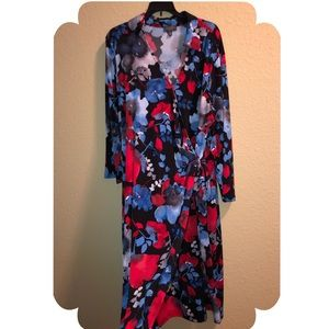 The Limited Plus Size Watercolor Print Wrap Dress